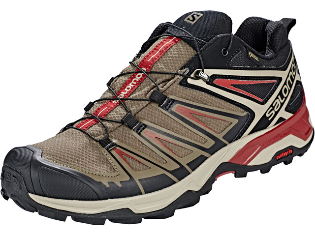 premium selection 49470 ed16f Salomon X Ultra 3 GTX Shoes Men bungee cord/vintage kaki/red dahlia